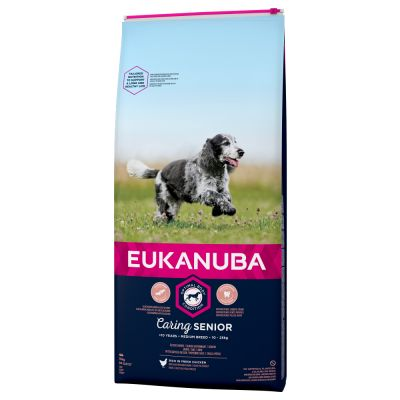 Eukanuba Caring Senior Medium Breed Pollo