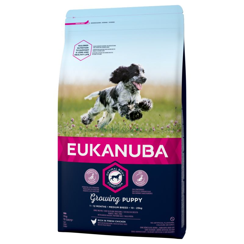 Eukanuba Growing Puppy Medium Breed Chicken