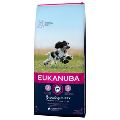 Eukanuba Growing Puppy Medium Breed, kurczak