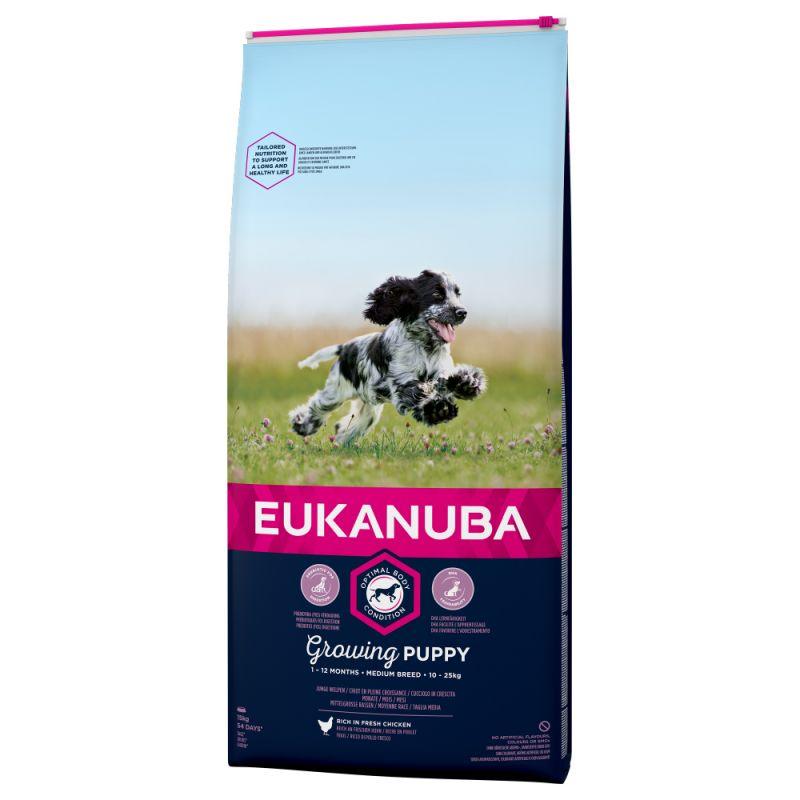 Eukanuba Growing Puppy Medium Breed Kylling