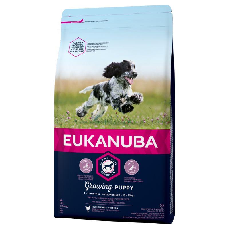 Eukanuba Growing Puppy Medium Breed Pollo