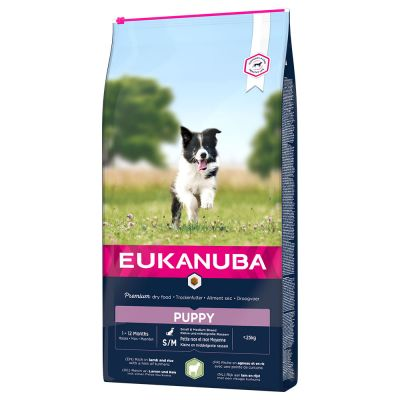Eukanuba Puppy Small & Medium Breed Agnello & Riso