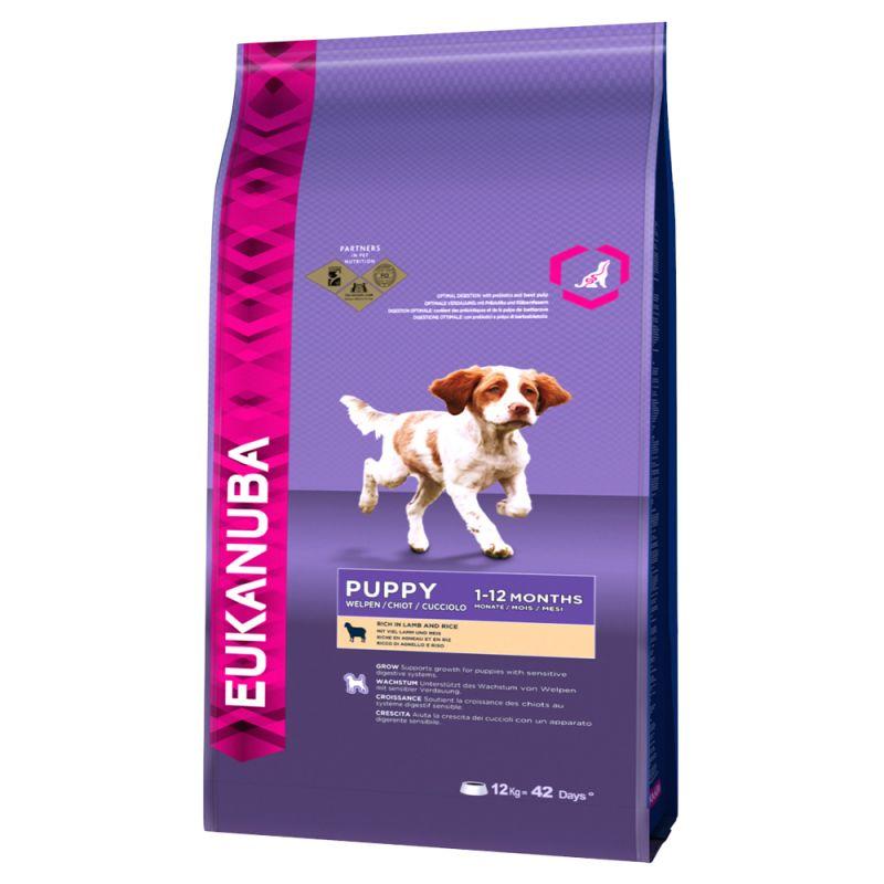 Eukanuba Puppy Small & Medium Breed Lam & Ris