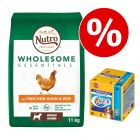 Extra voordelig! Nutro Wholesome Essentials + Pedigree Dentastix Multipack (56 stuks)