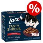 Extra lågt sparpris! 24 x 80 g Latz Tasty Shreds portionspåsar