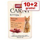 Extra voordelig! Animonda Carny Kitten Maaltijdzakjes Kattenvoer 12 x 85 g