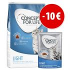 Extra voordelig! 3 kg Concept for Life Light + 12 x 85 g natvoer