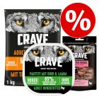 Extra voordelig! 1 kg Crave Adult Hondenvoer + 300 g Crave Adult Pastei + 55 g Crave Snacks
