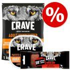 Extra voordelig! 1 kg Crave Adult Hondenvoer + 300 g Crave Pastei + 75 g Crave Protein Chew Snacks