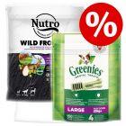 Extra voordelig! 1,4 kg Nutro Droogvoer + 170 g Greenies Large Gebitsverzorgende Kauwsnacks