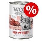 Extra voordelig! 6 x 400 g / 800 g Wolf of Wilderness Scharrelvlees