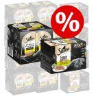 Extra voordelig! 48 x 85 g Sheba Variaties in Kuipjes + 48 x 37,5 g Perfect Portions Kip