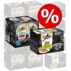 Extra voordelig! 48 x 85 g Sheba Variaties in Kuipjes + 48 x 37,5 g Perfect Portions Zalm