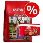 Få 15 % rabatt på 12,5 kg MERA essential hundfoder + 5 kg Meradog Biscuit i hink!