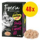 Fai scorta! 48 x 85 g Tigeria Pulled Meat Alimento umido per gatti