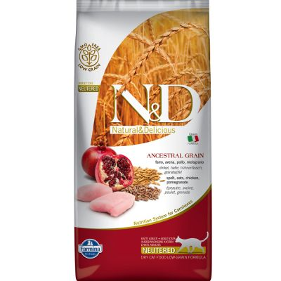 Famina N&D Cat Low Grain Chicken & Pomegranate Neutered