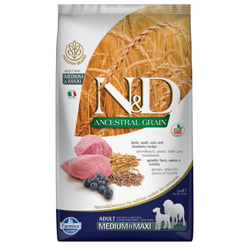 Farmina N&D Ancestral Grain Adult Medium & Maxi Agnello e Mirtillo