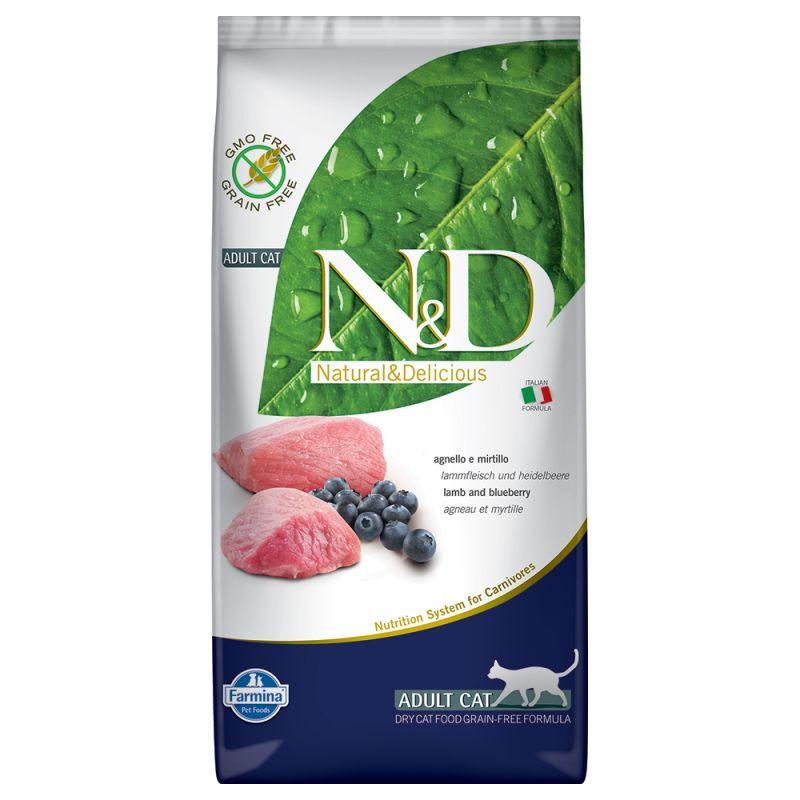 Farmina N&D Cat Grain Free, jagnięcina i borówki