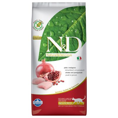 Farmina N&D Cat Grain Free Neutered Chicken & Pomegranate
