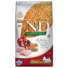 Farmina N&D Low Grain Adult Mini Pui și rodie