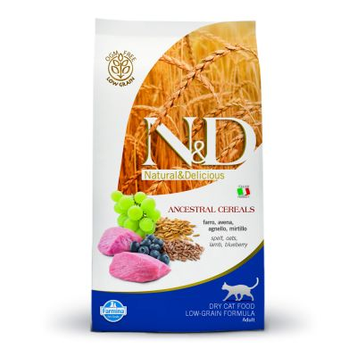 Farmina N&D Low Grain CAT Adult Lamb & Blueberry
