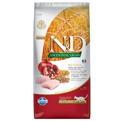 Farmina N&D Low Grain Cat Pollo e Melograno Neutered