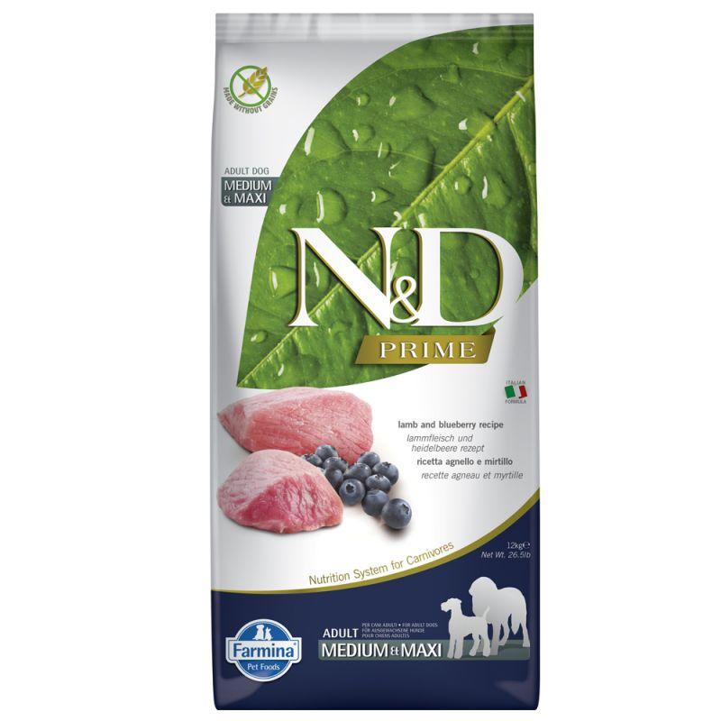 Farmina N&D Prime Adult Medium & Maxi Agnello e Mirtillo
