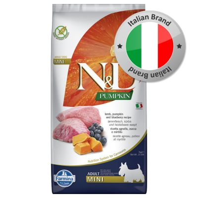 Farmina N&D Pumpkin Adult Mini Agnello e Mirtilli Grain Free