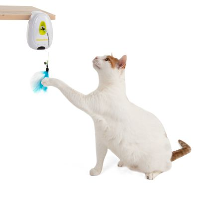 Feather Teaser Cat Toy with Infrared Sensor