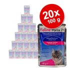 Feline Porta 21 frisstasakos gazdaságos csomag 20 x 100 g