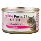 Feline Porta 21 Kitten, poulet, riz pour chaton