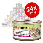 Feline Porta 21 -säästöpakkaus 24 x 90 g