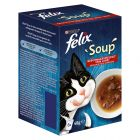 Felix Soup 6 x 48 g snacks para gatos