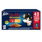 Felix As Good As It Looks - Doubly Delicious Jumbo Pack 40 x 100g