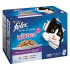 "Felix ""Aussi bon que beau"" Kitten 12 x 100 g pour chaton"