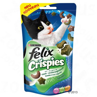 Felix Crispies snacks para gatos