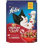 Felix Crunchy & Soft met Rund, Kip en Groentesmaak Kattenvoer