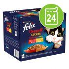 """Felix """"Doubly Delicious - La fel de bun pe cât arată"""" Pliculețe  24 x 85 g"""