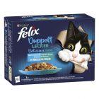 """Felix """"Doubly Delicious - La fel de bun pe cât arată"""" Pliculețe 12 x 85 g"""