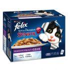 Felix Elke Dag Feest Kattenvoer Senior Mix in Gelei 12 x 100 g