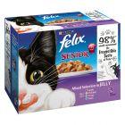 Felix Senior saquetas em gelatina 12 x 100 g para gatos