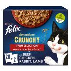 Felix Sensations Crunchy Crumbles 20 x 85 g + 80 g Topping