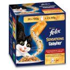 Felix Sensations Crunchy Crumbles 20 x 100 g + Topping 2 x 40 g