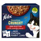 Felix Sensations Crunchy Crumbles 20 x 85 g +  2 x 40 g