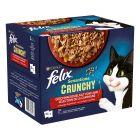 Felix Sensations Crunchy Crumbles 20 x 85 g + 2 x 40 g de pépites pour chat