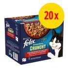 Felix Sensations Crunchy Crumbles 20 x 85 г + 2 x 40 г