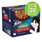 "Felix ""Sensations Crunchy"" Pouches 20 x 85 g + 80 g Topping"