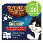 """Felix """"Sensations Crunchy"""" vrečke 20 x 85 g + 80 g hrustljavi koščki"""