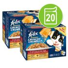 Felix Sensations Crunchy 20 x 100 g - Pack económico