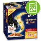 Felix Sensations Extras 24 x 100 g - Pack económico